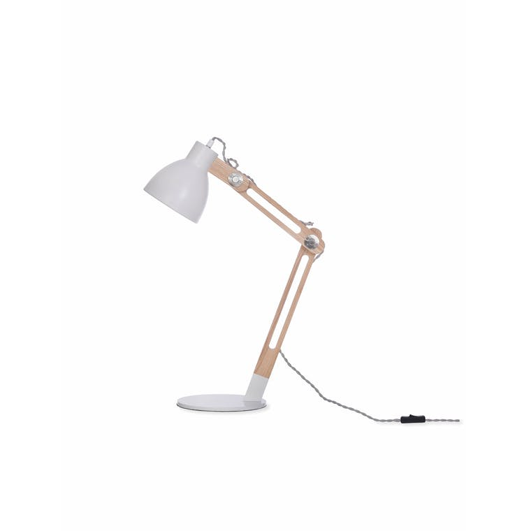 Elder Desk Lamp in White | Garden Trading