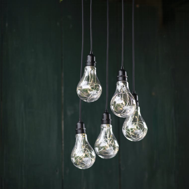 Indoor and Outdoor Battery Powered Festoon Cluster Lights | Garden Trading