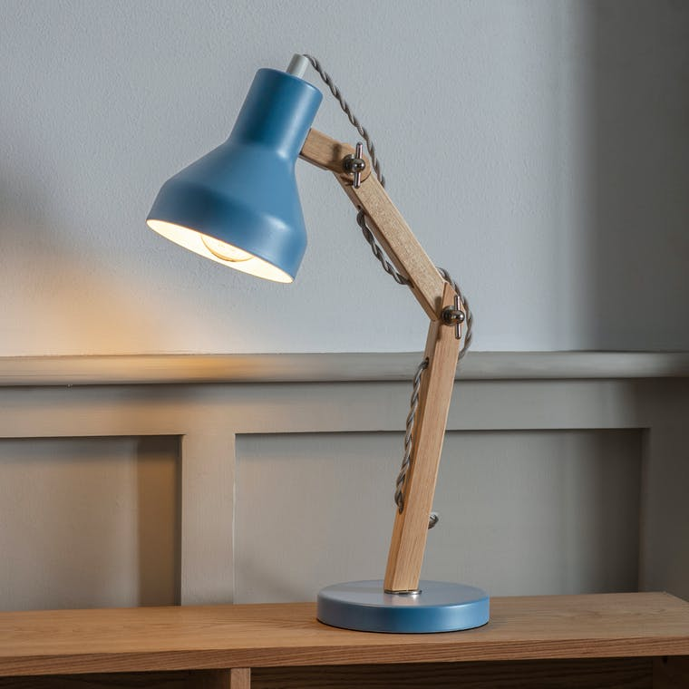 Folgate Desk Lamp in Blue, White or Green | Garden Trading