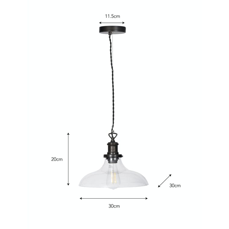 Large Hoxton Pendant Light in Silver or Bronze | Garden Trading