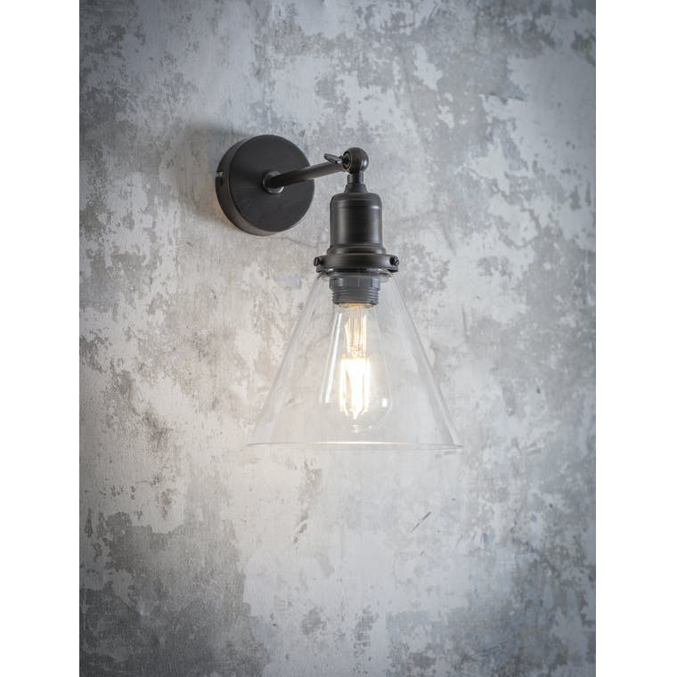 Garden Trading Hoxton Cone Wall Light in Antique Bronze