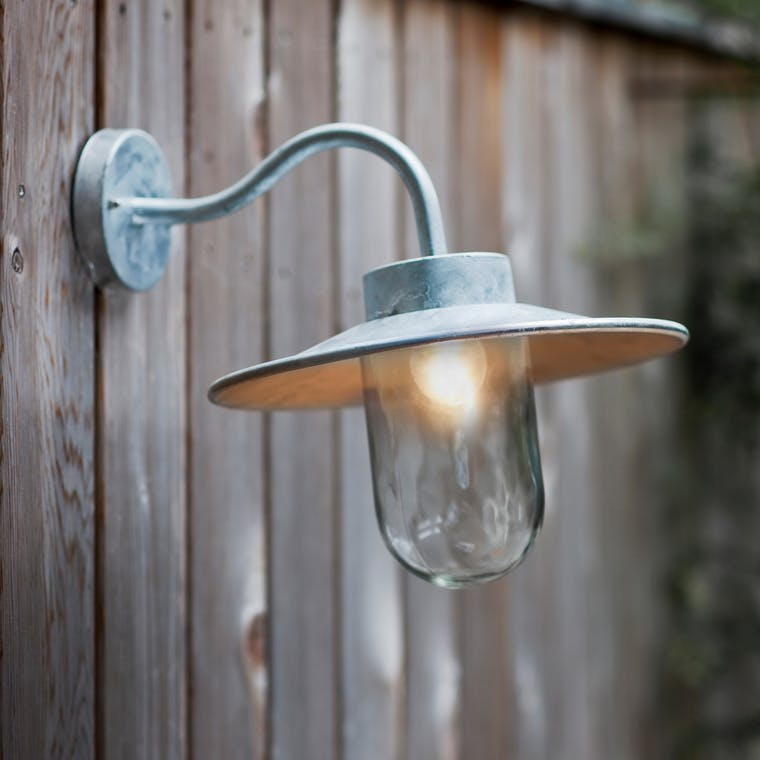 Outdoor Swan Neck Light in Grey, Black, Silver or White | Garden Trading
