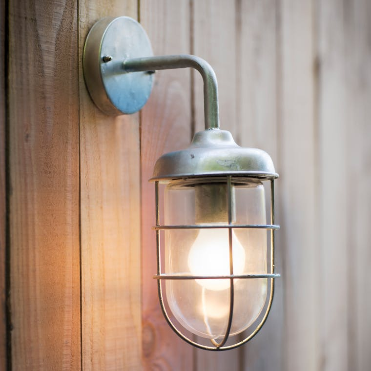 Hot Dipped Galvanised St Ives Outdoor Harbour Light  | Garden Trading