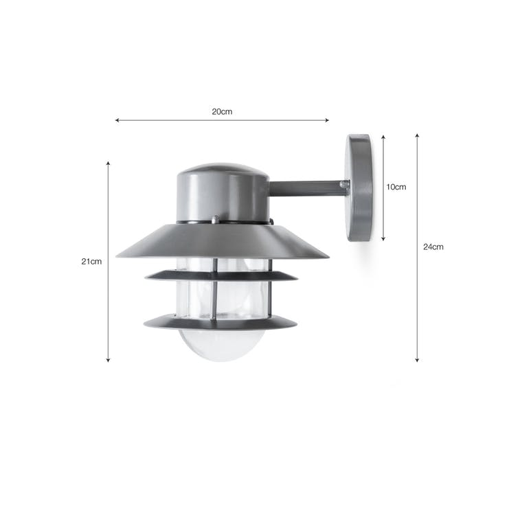 Strand Outdoor Down Light in Grey | Garden Trading