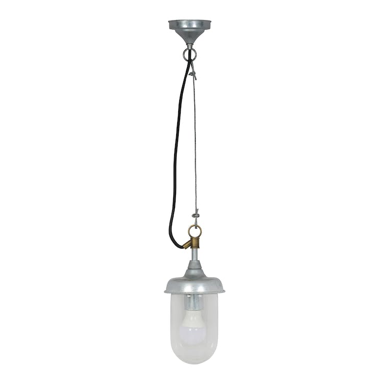 Hot Dipped Galvanised Steel St Ives Harbour Outdoor Pendant Light  | Garden Trading