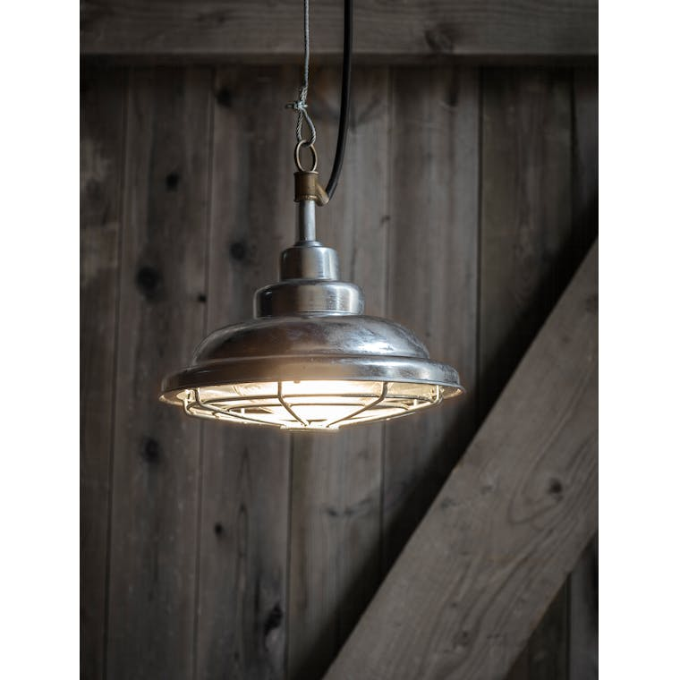 Hot Dipped Galvanised St Ives Mariner Outdoor Pendant | Garden Trading