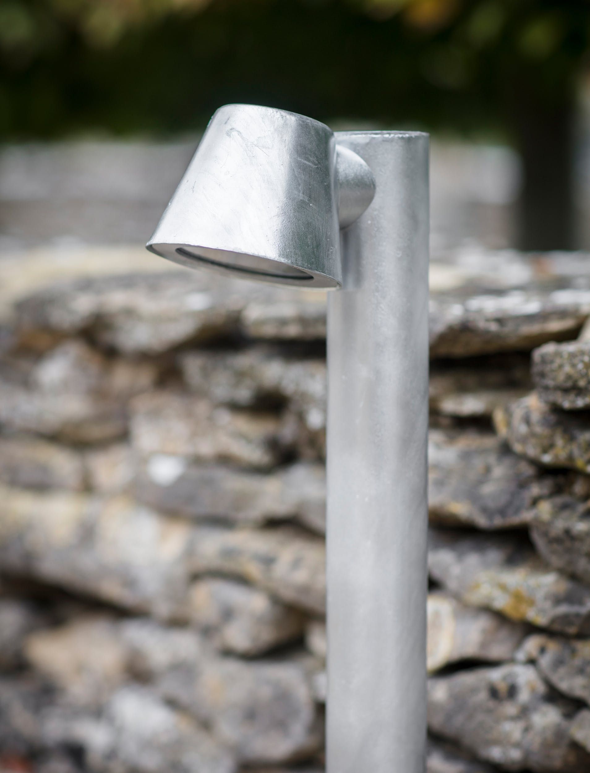 Hot Dipped Galvanised Steel St Ives Mast Path Light   Garden Trading