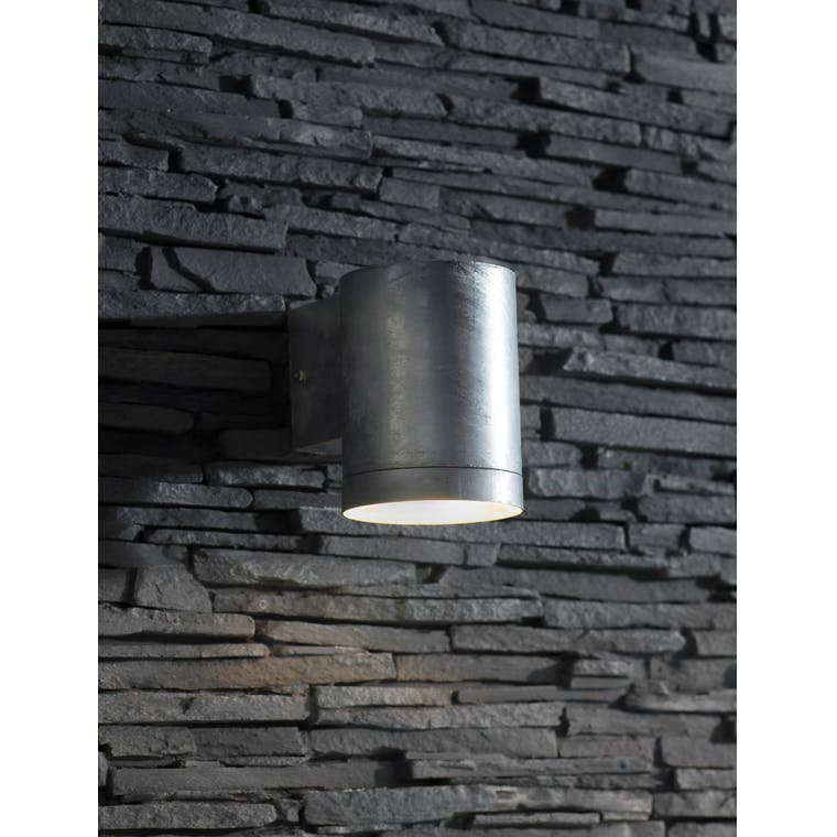 Hot Dipped Galvanised Steel St Ives Down Light in Small or Large  | Garden Trading