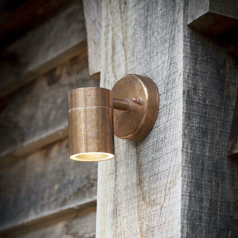 Raw Copper Outdoor Down Light | Garden Trading