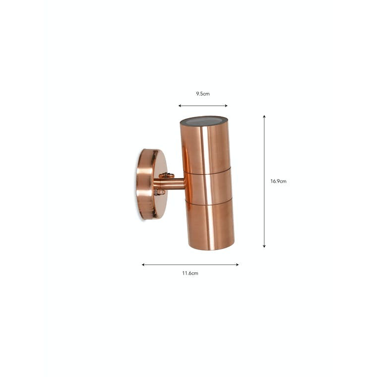 Raw Copper Outdoor Up and Down Light | Garden Trading