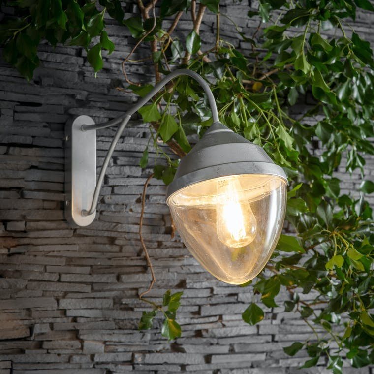 Galvanised St Ives Warwick Outdoor Wall Light | Garden Trading