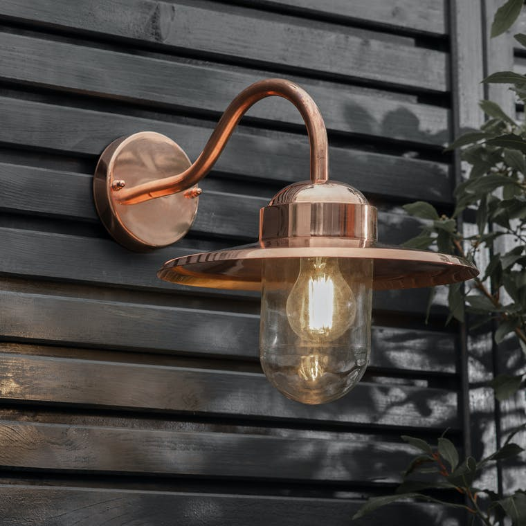 Raw Copper Howick Wall Light | Garden Trading