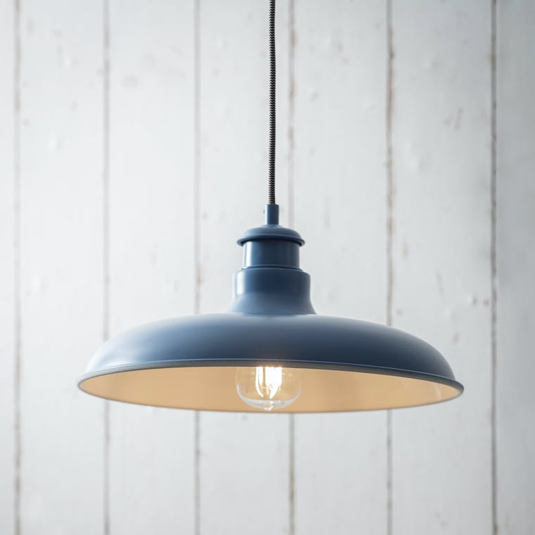 Toulon Pendant Light in Black, Green, Blue or White  | Garden Trading