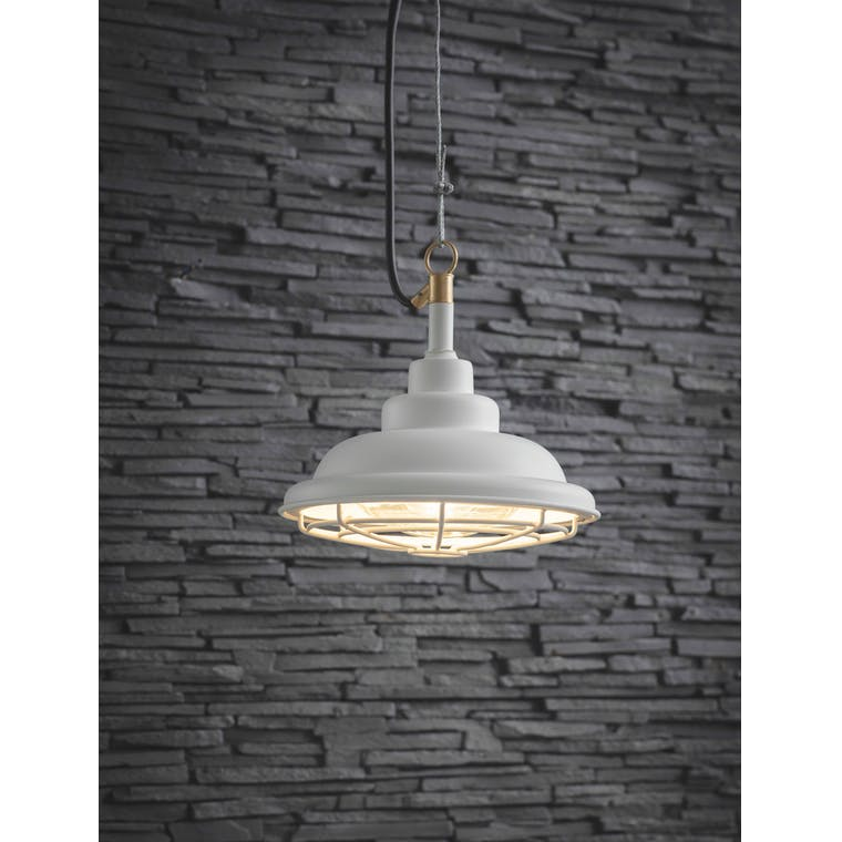 Garden Trading Mariner Outdoor Pendant Light in Lily White - Steel