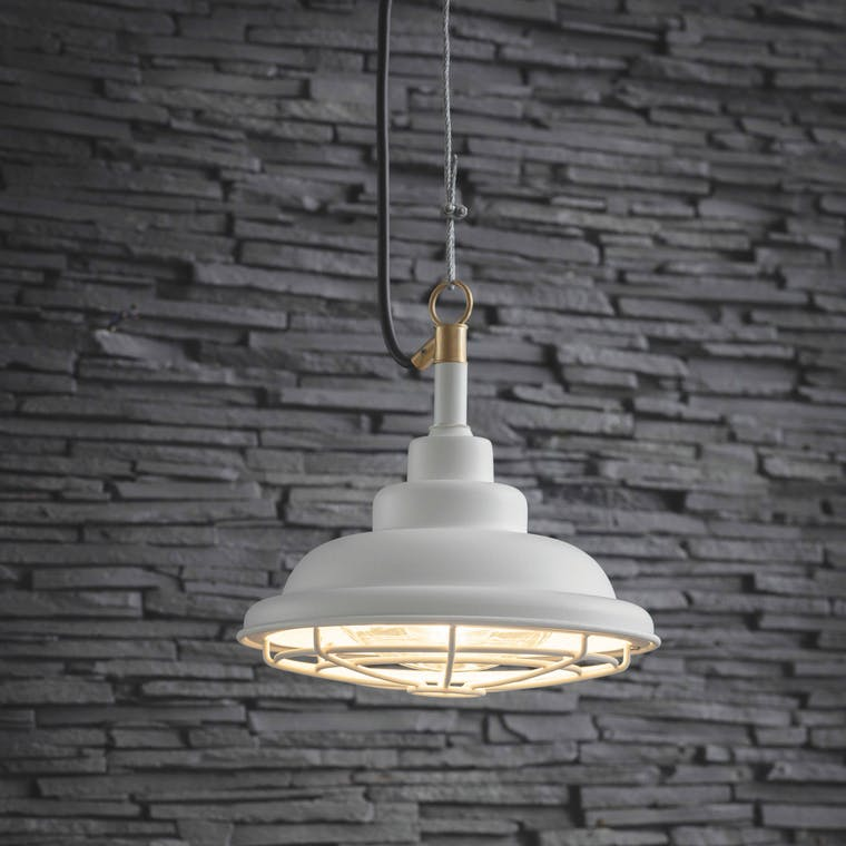Outdoor Mariner Pendant Light in White | Garden Trading