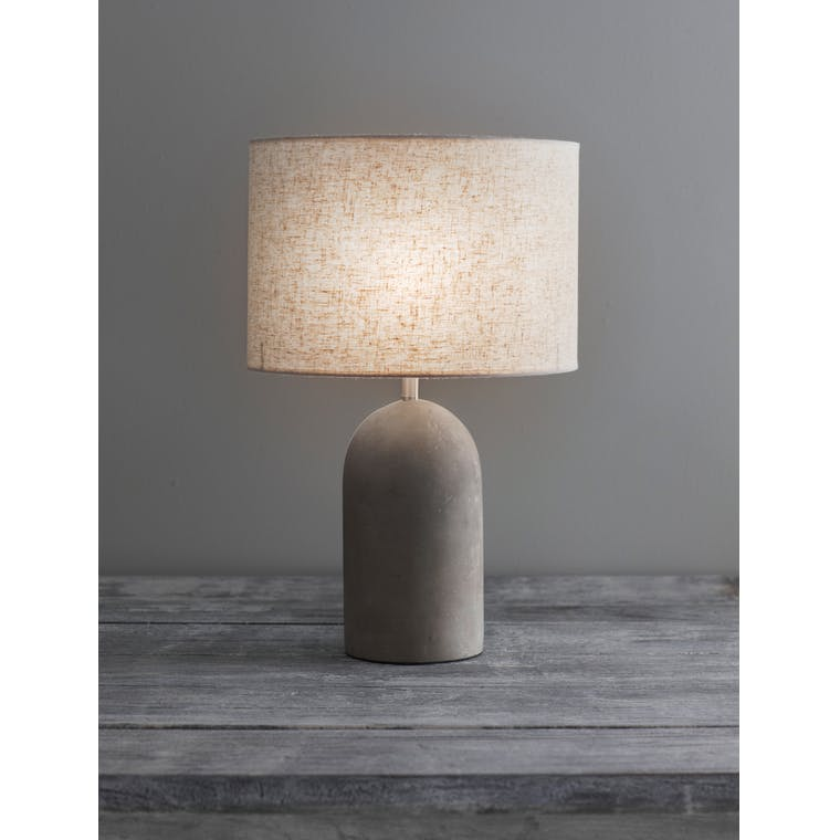 Concrete Millbank Bullet Table Lamp | Garden Trading