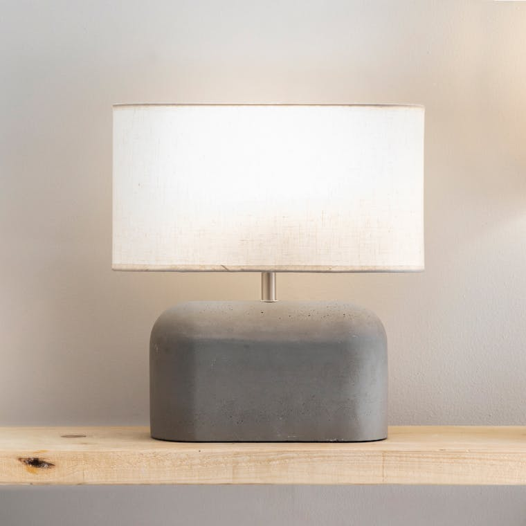 Concrete Millbank Slab Table Lamp | Garden Trading