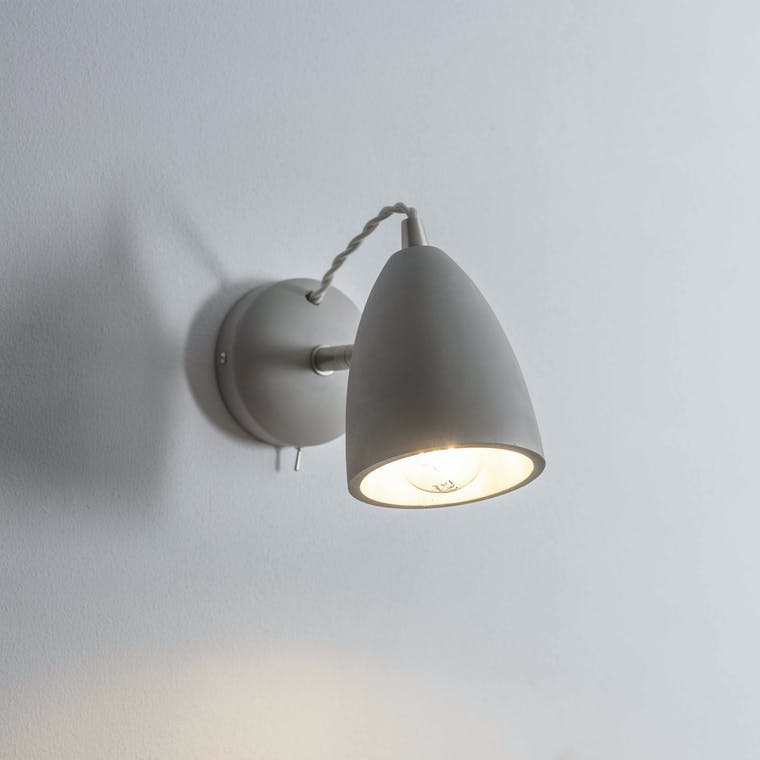 Concrete Millbank Indoor Wall Light | Garden Trading
