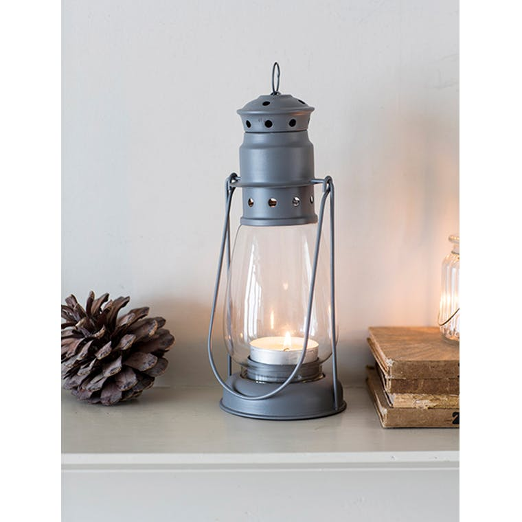 Garden Trading Miners Lantern Large Charcoal