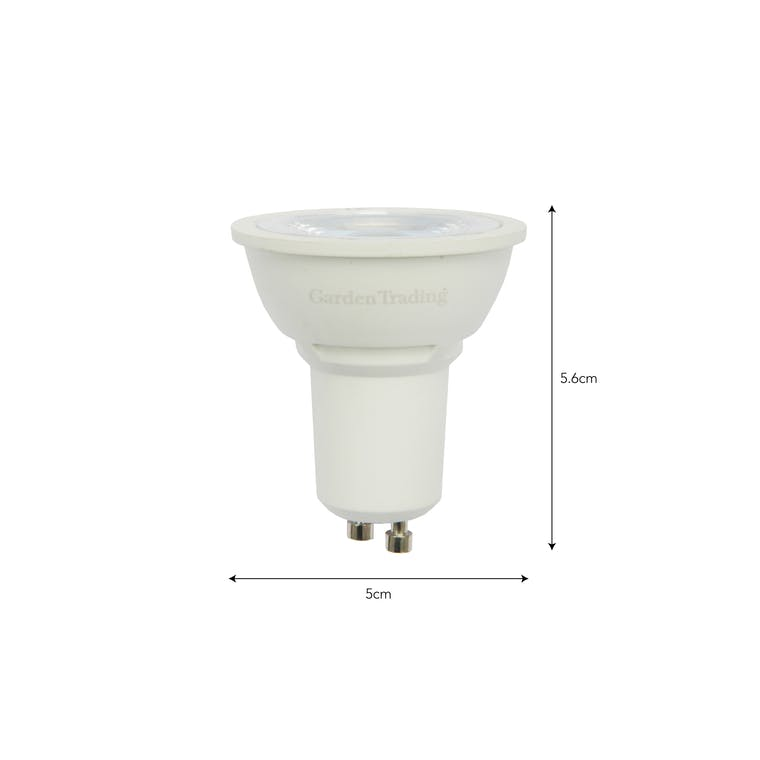 LED GU10 6.5W 3000K Light Bulb  | Garden Trading