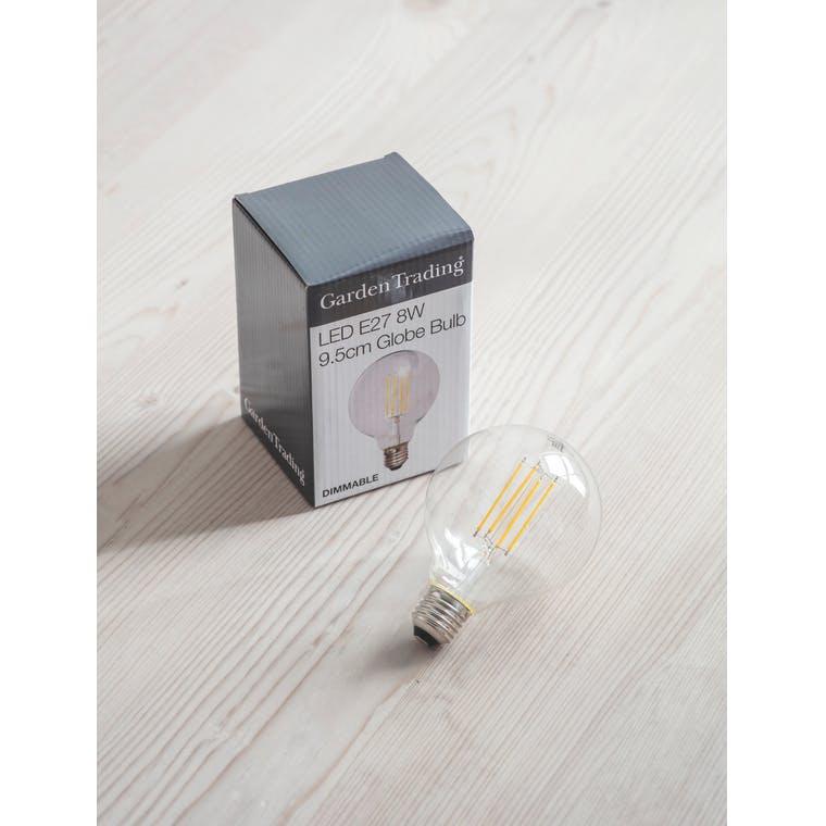LED E27 7W 9.5cm Globe Light Bulb | Garden Trading