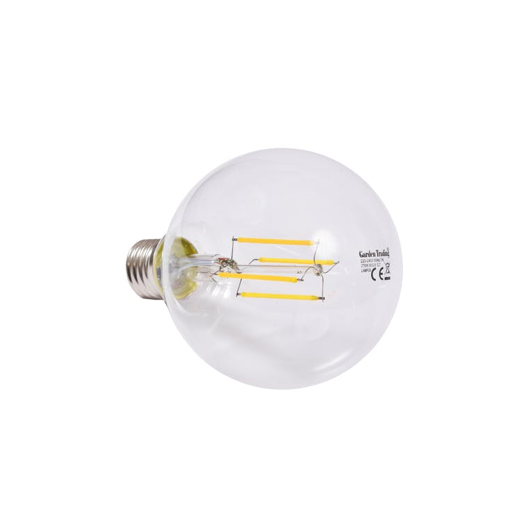 LED E27 8W 9.5cm Globe Light Bulb | Garden Trading