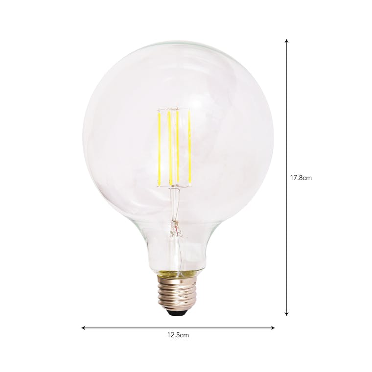 LED E27 7W 12.5cm Globe Light Bulb | Garden Trading