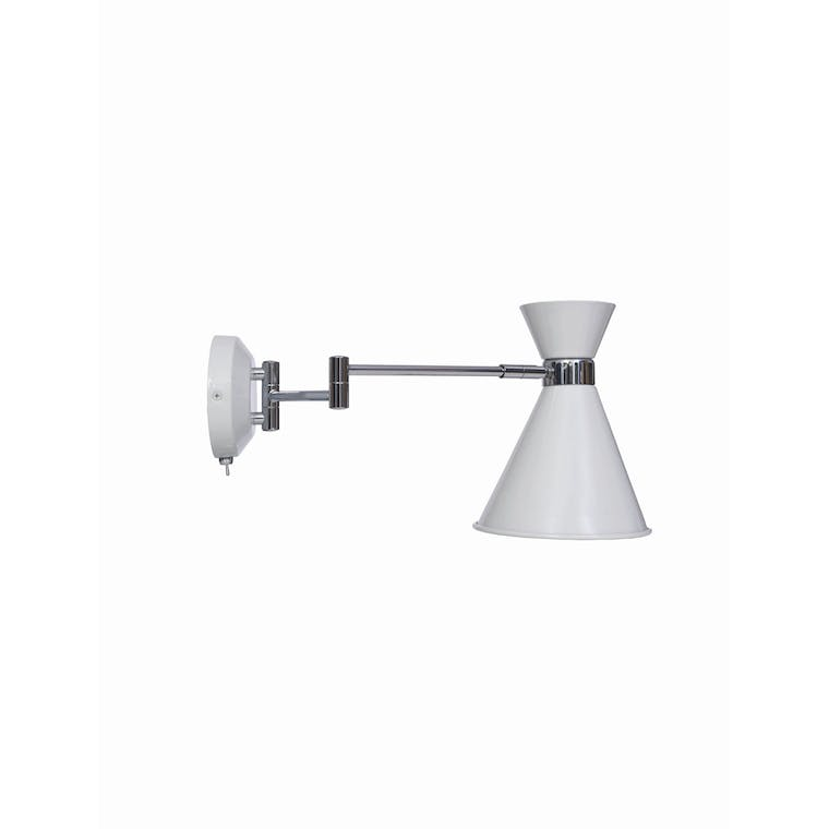 Pelham Wall Mounted Light in White  | Garden Trading
