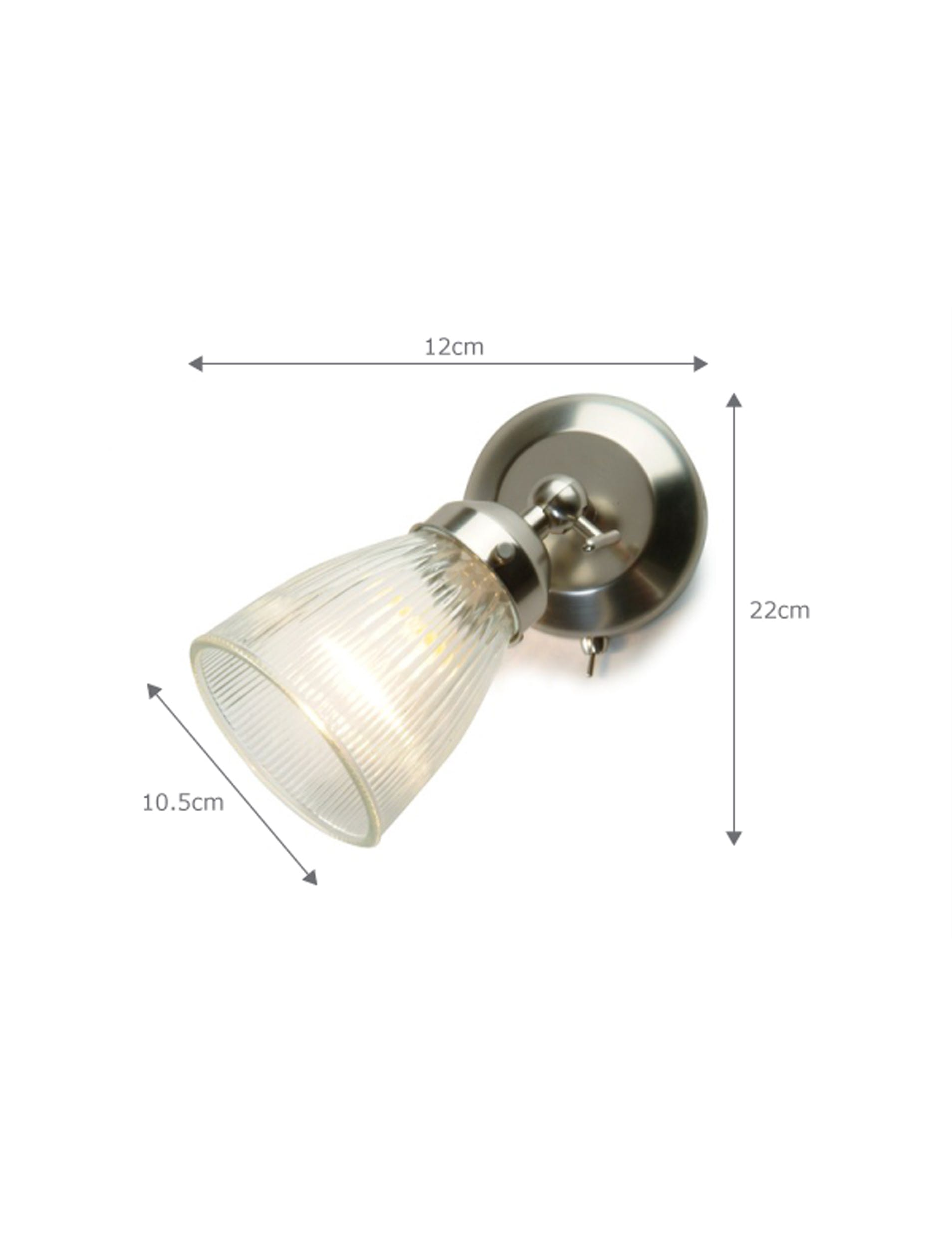 Glass Pimlico Indoor Wall Lamp in Silver  | Garden Trading