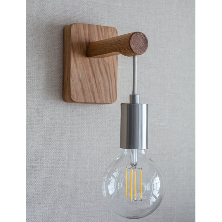 Wooden Rathborne Wall Light | Garden Trading