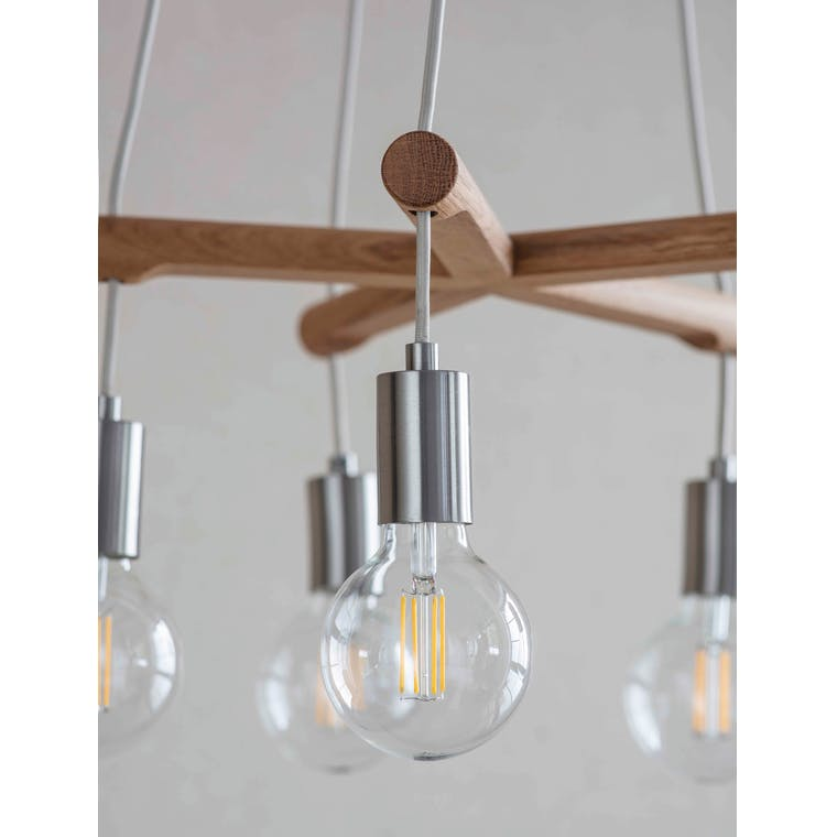 Wooden Rathborne Pendant Light | Garden Trading