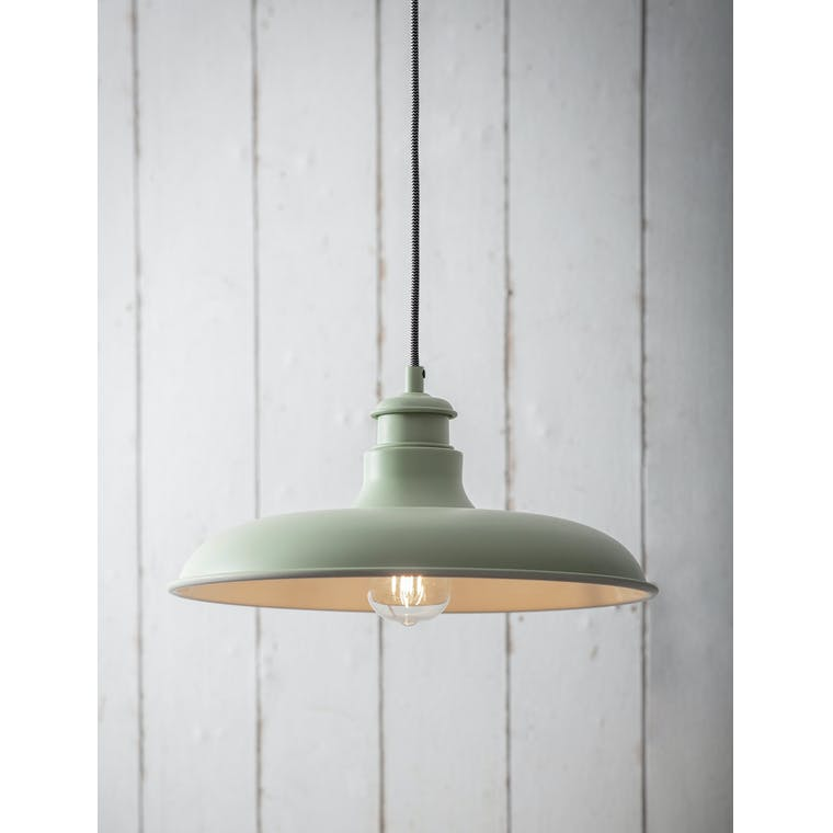 Garden Trading Toulon Pendant Light in Sage - Steel
