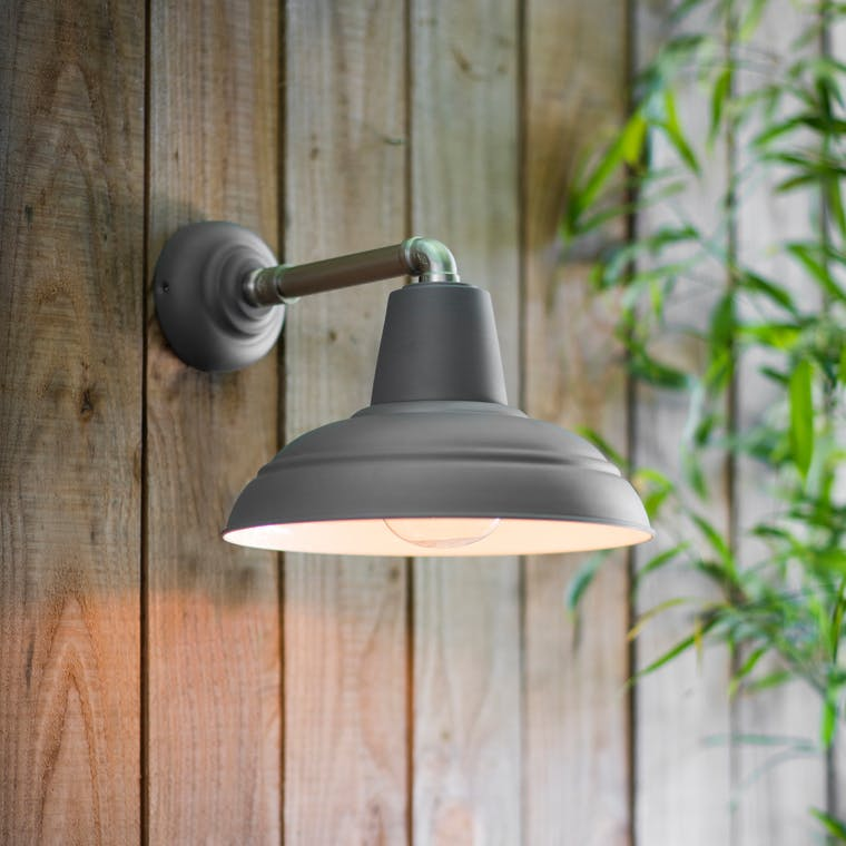 Southwark Outdoor Wall Light in Grey | Garden Trading