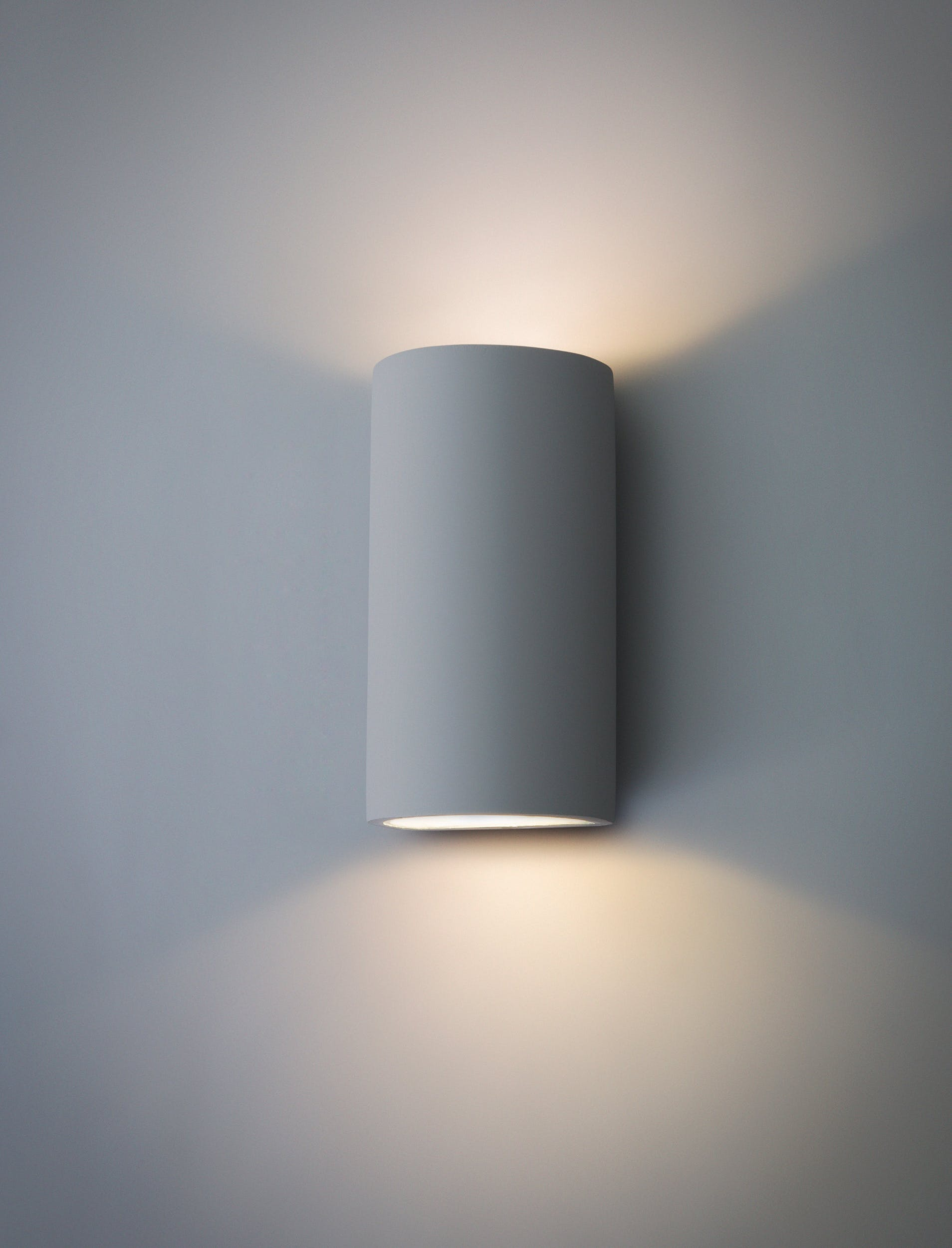 Plaster Troika Double LED Wall Lamp   Garden Trading