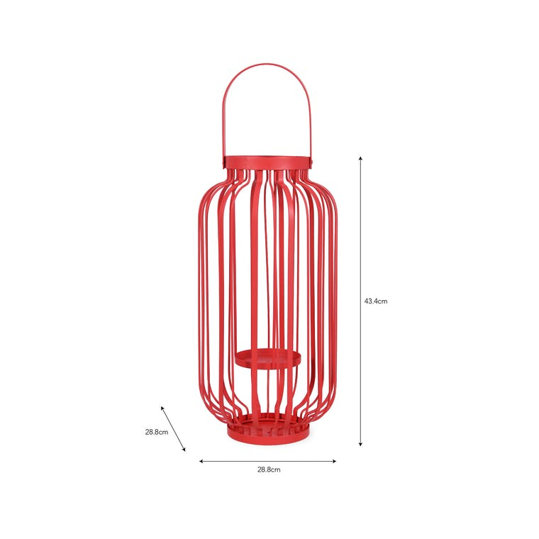 Steel Torello Lantern in Yellow, Red or Green | Garden Trading