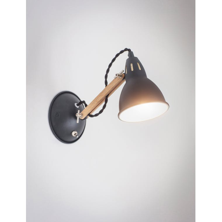 Oak Bermondsey Wall Light White or Black  | Garden Trading