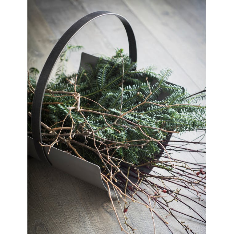Metal Lodge Round Log Carrier  | Garden Trading