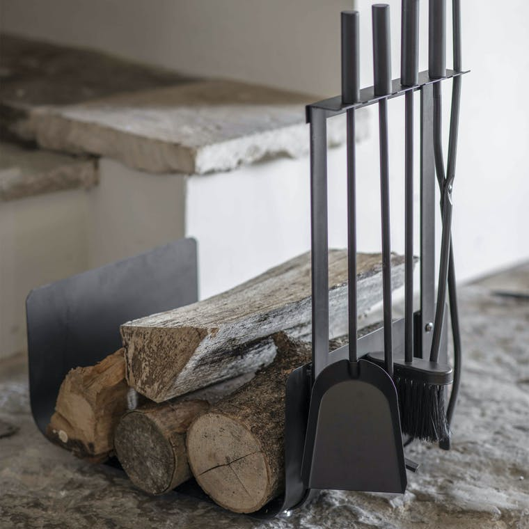 Steel Stanton Log Holder with Set of 4 Tools | Garden Trading