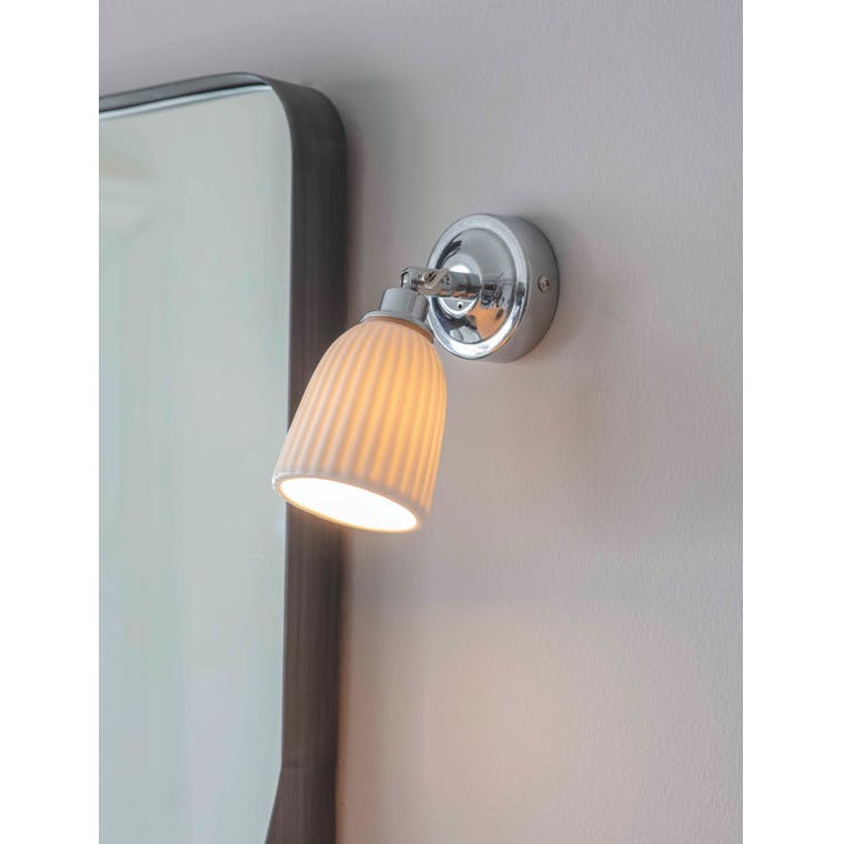 Ceramic Alma Bathroom Spotlight in Chrome  | Garden Trading