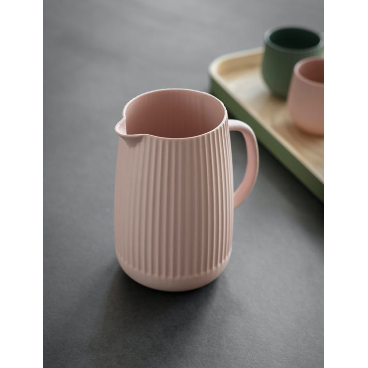 Garden Trading Linear Jug in Pink Gin - Ceramic