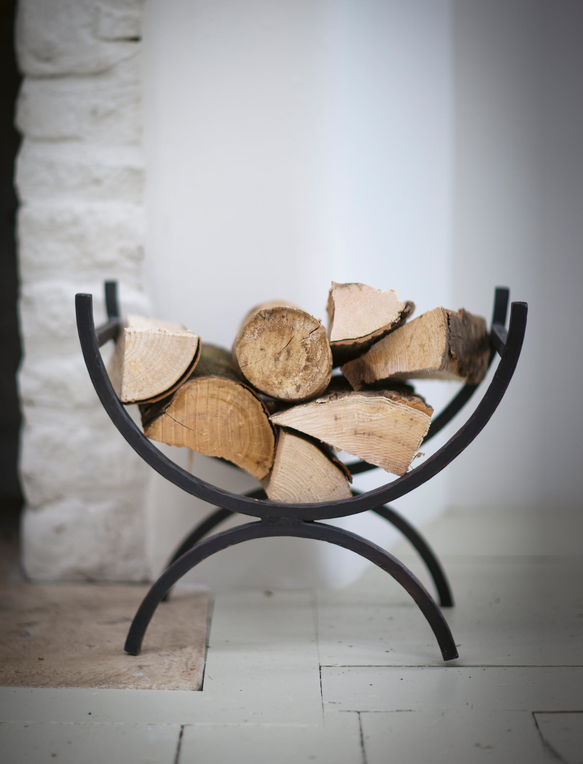 Wrought Iron Log Holder in Small or Large | Garden Trading