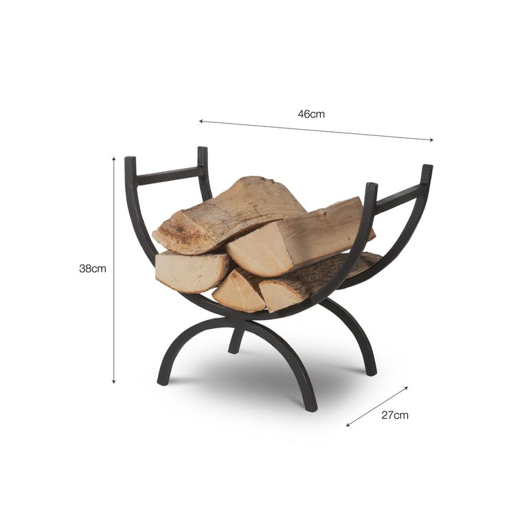 Wrought Iron Log Holder in Small or Large   Garden Trading