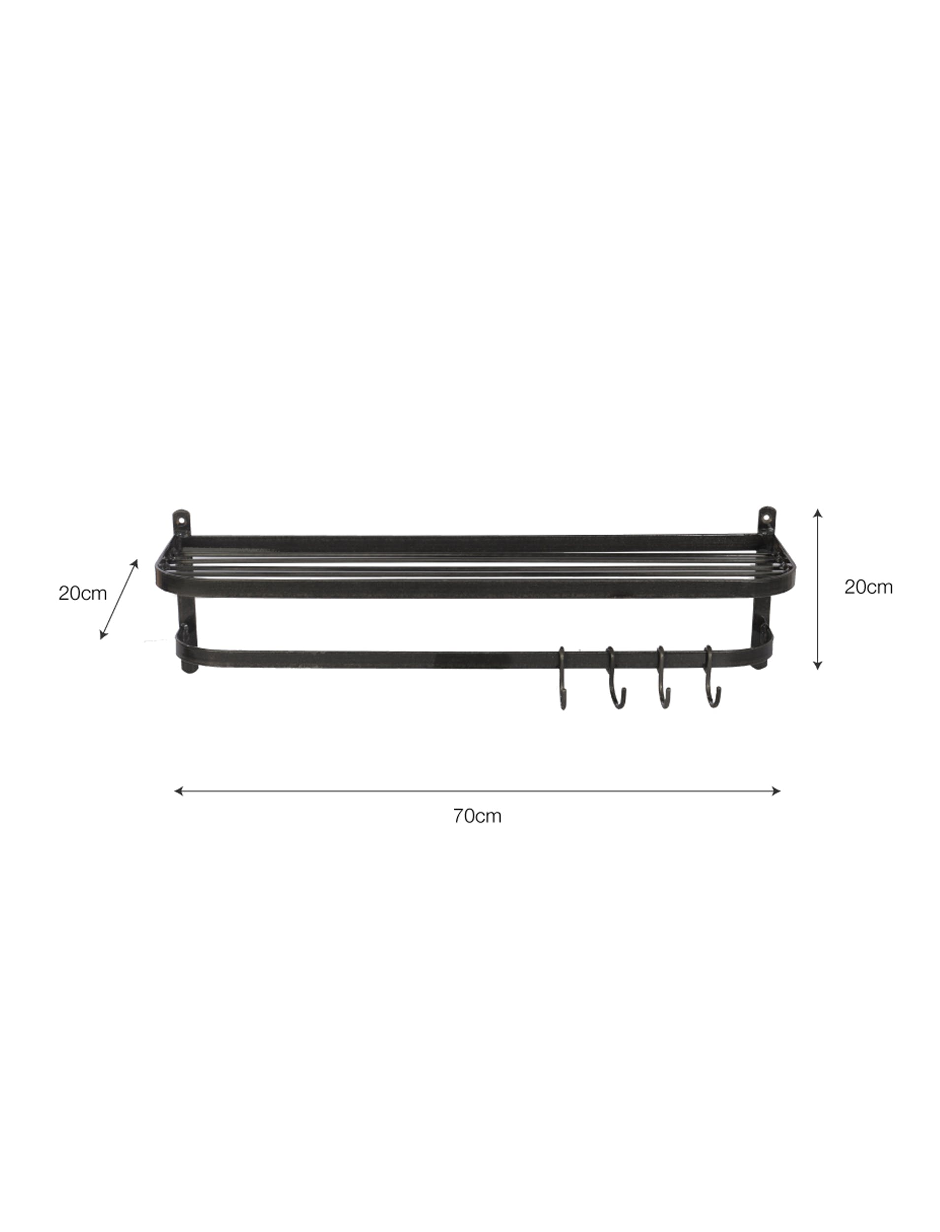Metal Farringdon Luggage Rack | Garden Trading
