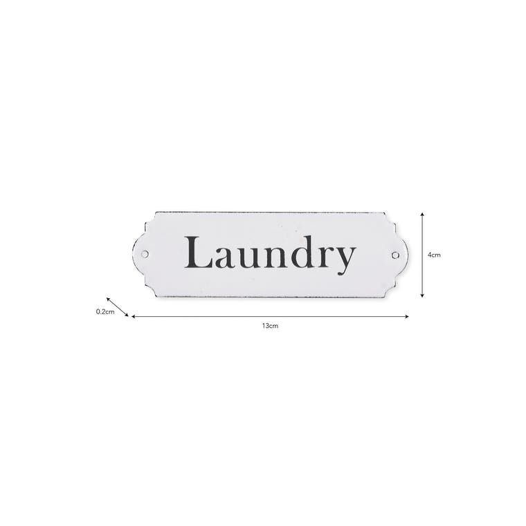 White Enamel Laundry Sign | Garden Trading