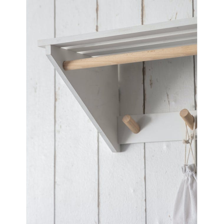 Wooden Melcombe Slatted Laundry Shelf | Garden Trading