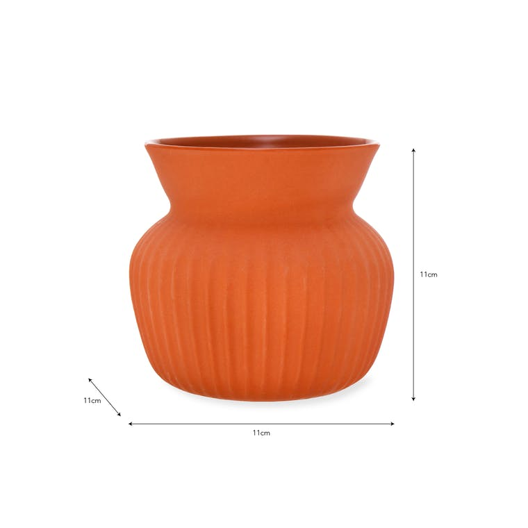 Ceramic Linear Vase in Small or Large | Garden Trading