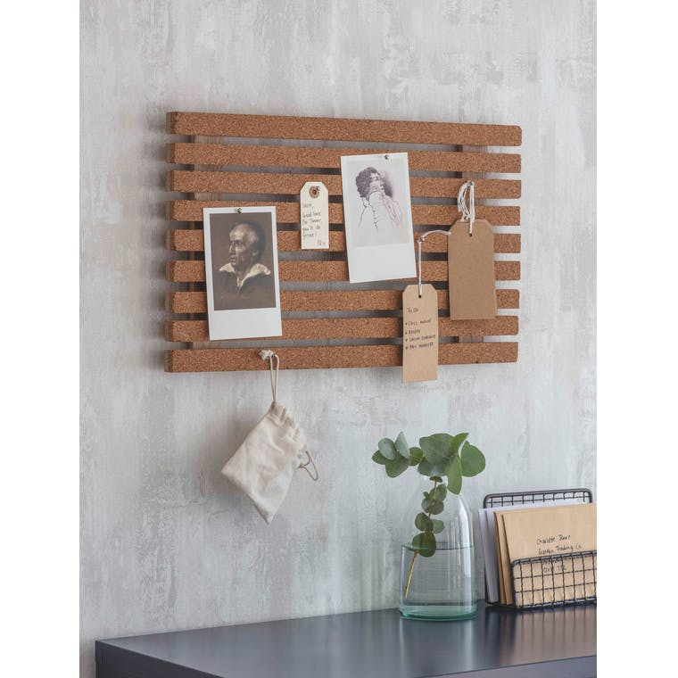 Wooden and Cork Ashwicke Memo Board | Garden Trading