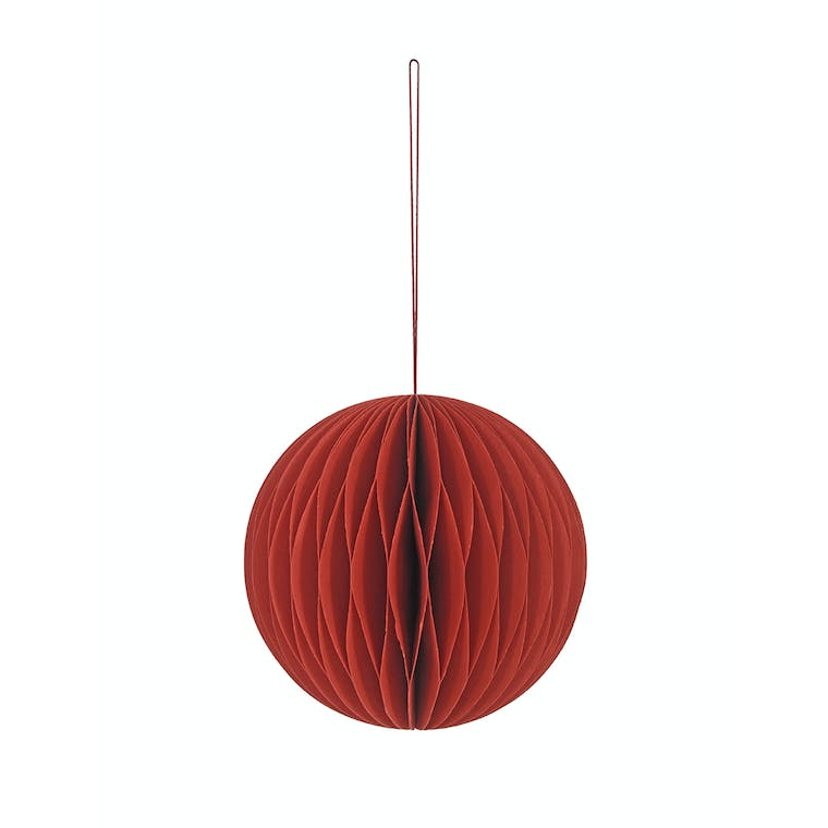 Large Paper Bauble in White, Red, Green, Black or Ink - Maddox | Garden Trading