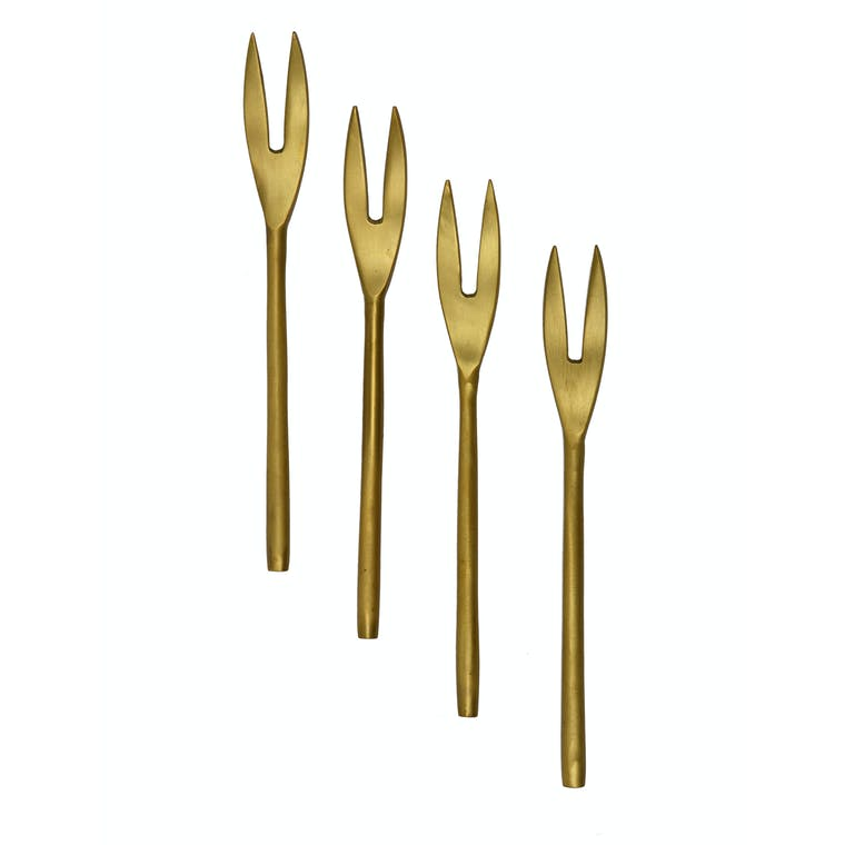 Brass Set of 4 Meze Forks | Garden Trading