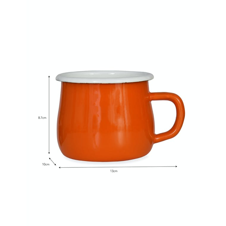 Enamel Mug in Black or Orange | Garden Trading